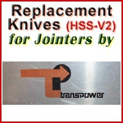 Replacement Blades (HSS) for Jointers by Transpower