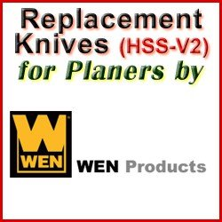 Replacement HSS-V2 Knives for Planers by WEN
