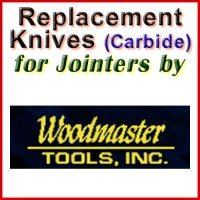 Replacement Carbide Knives for Jointers by Woodmaster