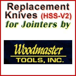 Replacement Blades (HSS) for Jointers by Woodmaster