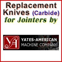 Replacement Carbide Knives for Jointers by Yates