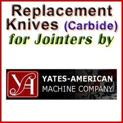 Replacement Blades (Carbide) for Jointers by Yates