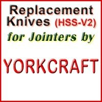 Replacement HSS-V2 Knives for Jointers by Yorkcraft