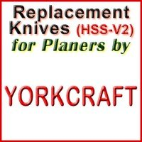 Replacement Blades (HSS) for Planers by Yorkcraft