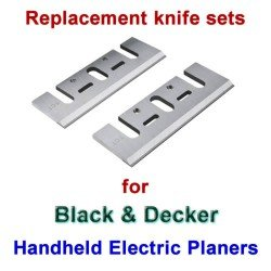 Replacement HSS Knives for handheld electric planers by Black and Decker