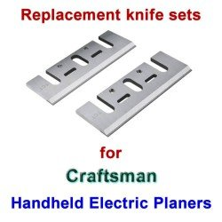 Replacement HSS Knives for handheld electric planers by Craftsman