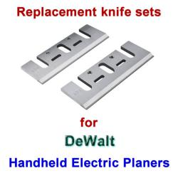 Replacement HSS Knives for handheld electric planers by DeWalt