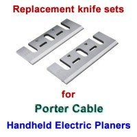Replacement HSS Knives for handheld electric planers by Porter Cable