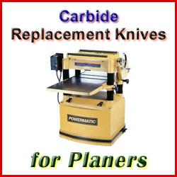 Carbide Planer Knife Sets, sorted by Machine Manufacturer