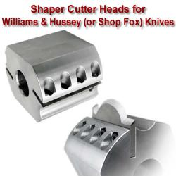 Shaper Cutter Heads for Williams and Hussey Knives