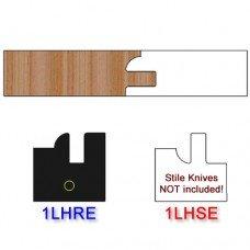 Rail Insert Knife Left Hand (LH) Profile #1 (Eased Edges for Stain Relief)-(Single Knife)