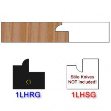 Rail Insert Knife Left Hand (LH) for Glass Doors Profile #1 (Single Knife)