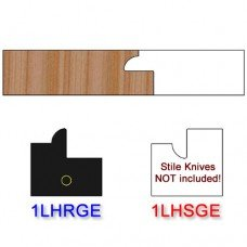 Rail Insert Knife Left Hand (LH) for Glass Doors Profile #1 (with eased Edges for Stain Relief) - (Single Knife)