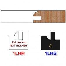 Stile Insert Knife Left Hand (LH) Profile #1 (Single Knife)