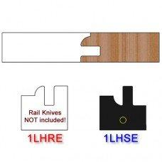 Stile Insert Knife Left Hand (LH) Profile #1 (Eased Edges for Stain Relief)-(Single Knife)