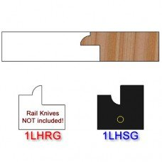 Stile Insert Knife Left Hand (LH) for Glass Doors Profile #1 (Single Knife)