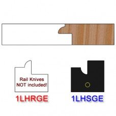 Stile Insert Knife Left Hand (LH) for Glass Doors Profile #1 (with eased Edges for Stain Relief) - (Single Knife)