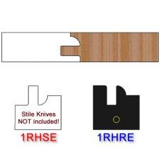 Rail Insert Knife Right Hand (RH) Profile #1 (Eased Edges for Stain Relief)-(Single Knife)