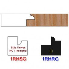 Rail Insert Knife Right Hand (RH) for Glass Doors Profile #1 (Single Knife)