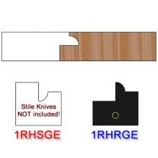 Rail Insert Knife Right Hand (RH) for Glass Doors Profile #1 (with eased Edges for Stain Relief) - (Single Knife)
