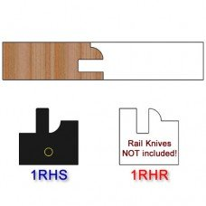 Stile Insert Knife Right Hand (RH) Profile #1 (Single Knife)
