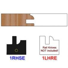Stile Insert Knife Right Hand (RH) Profile #1 (Eased Edges for Stain Relief)-(Single Knife)