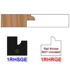 Stile Insert Knife Right Hand (RH) for Glass Doors Profile #1 (with eased Edges for Stain Relief) - (Single Knife)