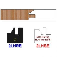 Rail Insert Knife Left Hand (LH) Profile #2 (Eased Edges for Stain Relief)-(Single Knife)