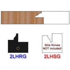 Rail Insert Knife Left Hand (LH) for Glass Doors Profile #2 (Single Knife)