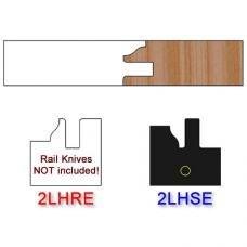 Stile Insert Knife Left Hand (LH) Profile #2 (Eased Edges for Stain Relief)-(Single Knife)