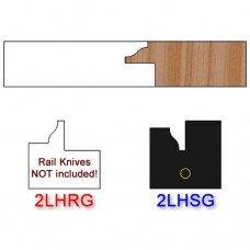 Stile Insert Knife Left Hand (LH) for Glass Doors Profile #2 (Single Knife)