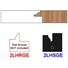 Stile Insert Knife Left Hand (LH) for Glass Doors Profile #2 (with eased Edges for Stain Relief) - (Single Knife)