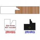 Rail Insert Knife Right Hand (RH) for Glass Doors Profile #2 (Single Knife)
