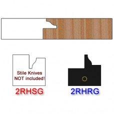 Rail Insert Knife Right Hand (RH) for Glass Doors Profile #2 (Single Knife)