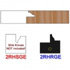 Rail Insert Knife Right Hand (RH) for Glass Doors Profile #2 (with eased Edges for Stain Relief) - (Single Knife)