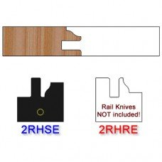 Stile Insert Knife Right Hand (RH) Profile #2 (Eased Edges for Stain Relief)-(Single Knife)