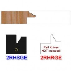 Stile Insert Knife Right Hand (RH) for Glass Doors Profile #2 (with eased Edges for Stain Relief) - (Single Knife)