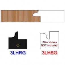 Rail Insert Knife Left Hand (LH) for Glass Doors Profile #3 (Single Knife)