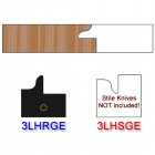 Rail Insert Knife Left Hand (LH) for Glass Doors Profile #3 (with eased Edges for Stain Relief) - (Single Knife)