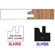 Stile Insert Knife Left Hand (LH) Profile #3 (Eased Edges for Stain Relief)-(Single Knife)