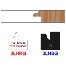 Stile Insert Knife Left Hand (LH) for Glass Doors Profile #3 (Single Knife)