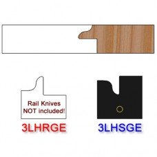 Stile Insert Knife Left Hand (LH) for Glass Doors Profile #3 (with eased Edges for Stain Relief) - (Single Knife)