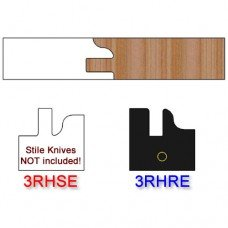 Rail Insert Knife Right Hand (RH) Profile #3 (Eased Edges for Stain Relief)-(Single Knife)