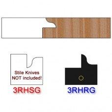 Rail Insert Knife Right Hand (RH) for Glass Doors Profile #3 (Single Knife)