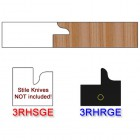Rail Insert Knife Right Hand (RH) for Glass Doors Profile #3 (with eased Edges for Stain Relief) - (Single Knife)