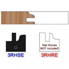 Stile Insert Knife Right Hand (RH) Profile #3 (Eased Edges for Stain Relief)-(Single Knife)