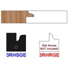 Stile Insert Knife Right Hand (RH) for Glass Doors Profile #3 (with eased Edges for Stain Relief) - (Single Knife)