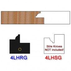 Rail Insert Knife Left Hand (LH) for Glass Doors Profile #4 (Single Knife)