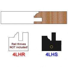 Stile Insert Knife Left Hand (LH) Profile #4 (Single Knife)