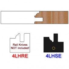 Stile Insert Knife Left Hand (LH) Profile #4 (Eased Edges for Stain Relief)-(Single Knife)